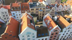 Aerial view on the Old City in Elblag by HeliDog_Aerials Stock Footage