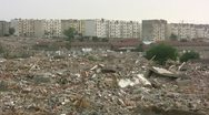 Stock Video Footage of Overview of a destroyed old quarter in the suburbs of Qingdao, China
