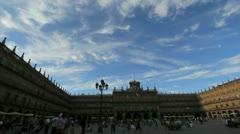 Salamanca Plaza Major timelapse 8.MOV Stock Footage