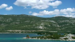 Adriatic sea landscape - stock footage