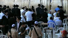 Prayers at Western Wall Stock Footage