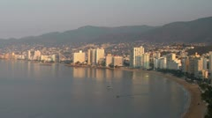 Acapulco bay mexico coast beach  Stock Footage