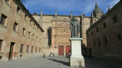 Salamanca University building Stock Footage