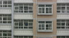 Campus buildings in China during snow Stock Footage