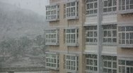Stock Video Footage of Snow on the campus of a Chinese university