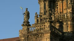 Santiago cathedral 3a Stock Footage
