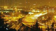 Hong Kong traffic at night - 4K Stock Footage