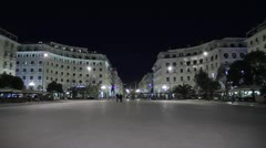 Αristotelous square in Thessaloniki, Greece Stock Footage