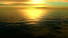 Quality Golden Ocean Sunset (high class animated ocean sunset seamless loop) Stock Footage
