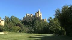 Segovia castle 4bi Stock Footage