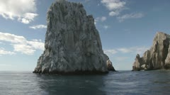el arco cabo san lucas lands end baja california sur - stock footage
