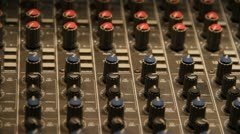 Panning Field of Mixing knobs Stock Footage