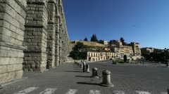 Segovia aqueduct morning 6 Stock Footage