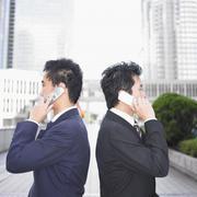 Two businessmen talking Stock Photos