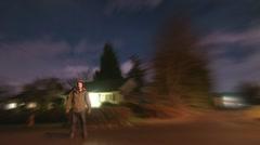 Twilight Running Effect Stock Footage
