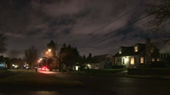 Night in Neighborhood Time Lapse Stock Footage