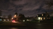Stock Video Footage of Night in Neighborhood Time Lapse