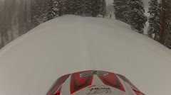 Snowmobile Helmet Cam Extreme Sports 6.mp4 - stock footage