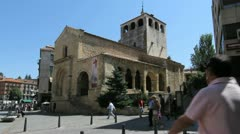 Segovia San Clemente church and street Stock Footage
