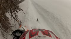 Snowmobile Helmet Cam Extreme Sports 4.mp4 - stock footage