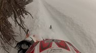 Snowmobile Helmet Cam Extreme Sports 4.mp4 Stock Footage
