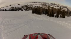 Snowmobile Hill Climb Helmet Cam 5.mp4 Stock Footage