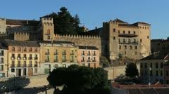Segovia morning walls in Spain Stock Footage