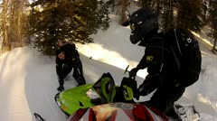 Snowmobile helmet cam stuck in the snow 4.mp4 - stock footage
