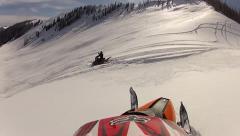 Snowmobile helmet cam hill climb 4.mp4 Stock Footage