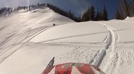 Snowmobile helmet cam hill climb 3.mp4 Stock Footage