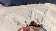Snowmobile helmet cam hill climb 2.mp4 Stock Footage