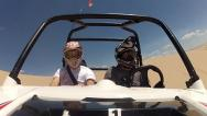 Stock Video Footage of Razer Sport Utility Vehicle 4 wheeler at the sand dunes 2.mp4