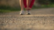 Stock Video Footage of Runner Running on a gravel road exercising working out 3.mp4