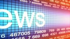 News Ticker Loop Stock Footage