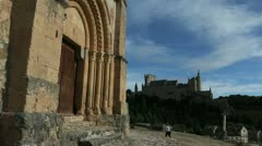 Stock Video Footage of Spain Segovia Templar church