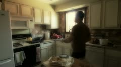 Heating food in Microwave Stock Footage