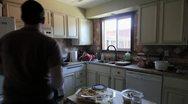 Heating food in Microwave Stock Footage