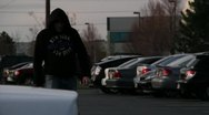 Creepy Stalker in Black hood.mp4 Stock Footage