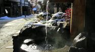 Stock Video Footage of Hot spring in Japan