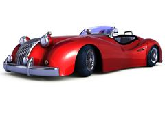 Stock Illustration of Red retro car