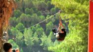 Stock Video Footage of Zip-Line Slide 1