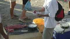 Fishermen mexico coast market Stock Footage