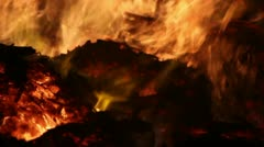 Fire Detail Clip 16 Part 1 Stock Footage