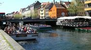 Tourism in Copenhagen Stock Footage