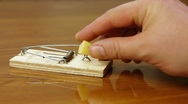 Hand In A Mousetrap Stock Footage