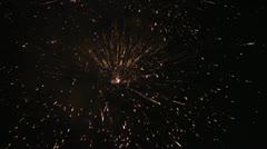 577 fireworks 5 Stock Footage