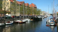 Daily atmosphere at Copenhagen Canals - stock footage