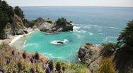 Stock Video Footage of McWay Falls (dolly), Big Sur, California, USA