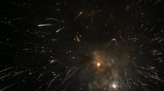 576 fireworks 4 Stock Footage