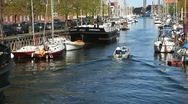 Cozy atmosphere at the Canal in Copenhagen Stock Footage